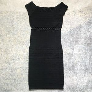 Bodycon Dress with Mesh Detail